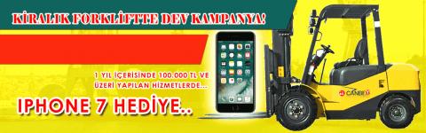 Forklift Kiralayın IPHONE 7 Kazanın!